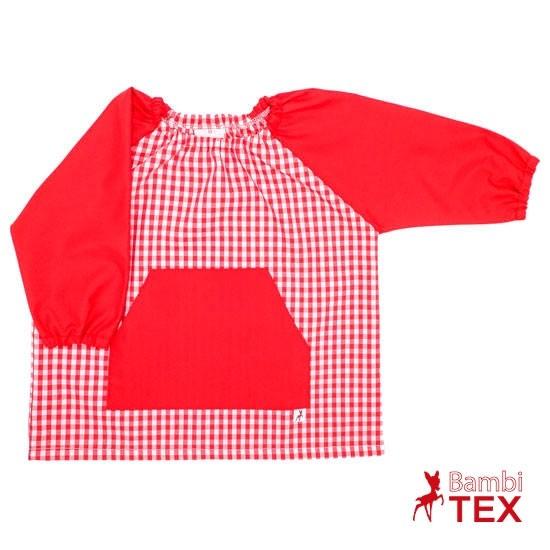 Babi de guardería bordado rojo