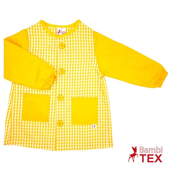 Babi personalizado con botones amarillo