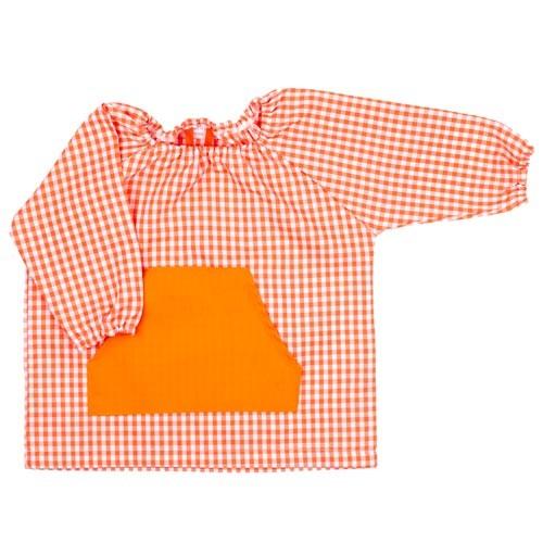 Babi de Guarderia vichy naranja