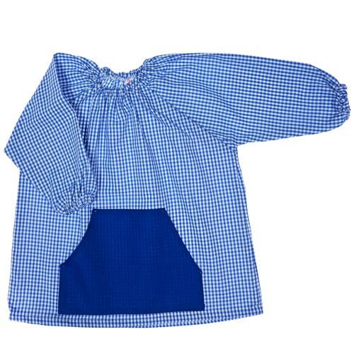 Bata de algodón azul marino