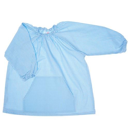 Bata de algodón celeste
