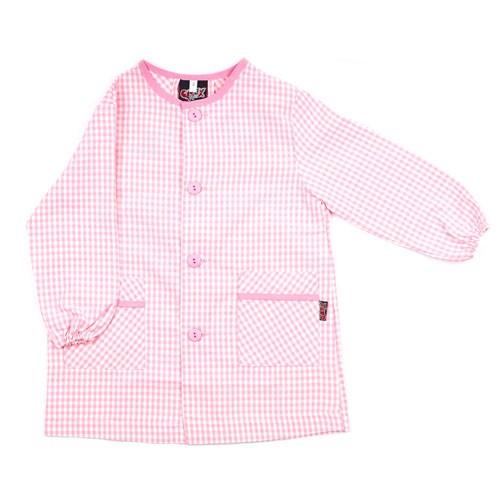 Bata de colegio con nombre rosa