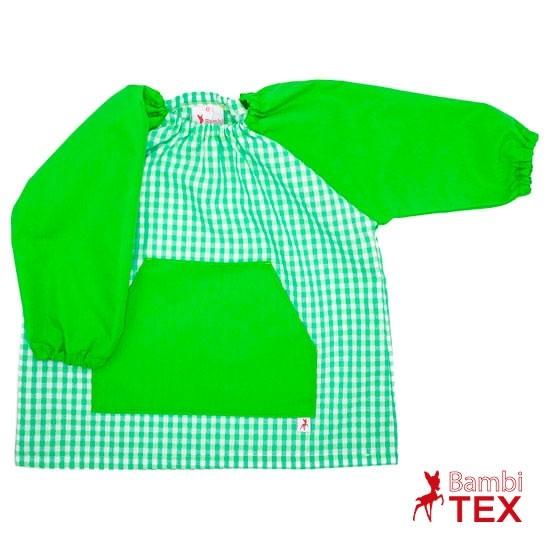 Bata de colegio verde personalizada