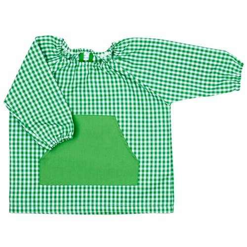 Bata de guardería para bebé Verde
