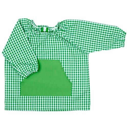 Bata de guarderia personalizada Verde