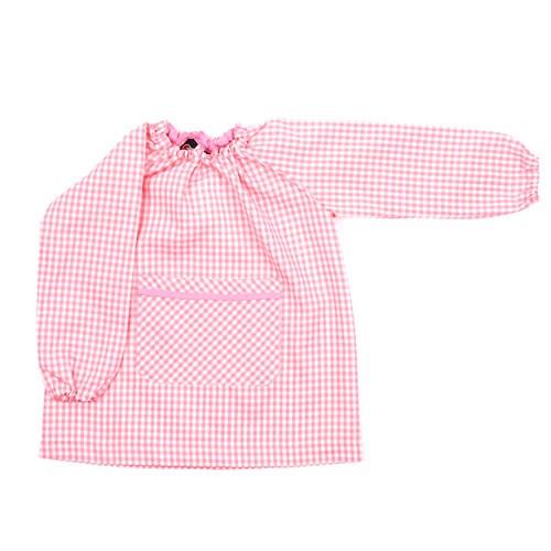 Bata de guardería rosa bebé