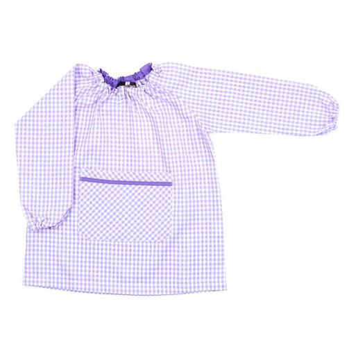 Bata de guardería lila