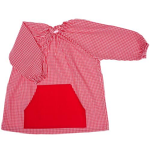 Bata escolar algodón bordada
