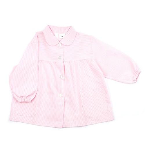 Bata escolar rosa bordada