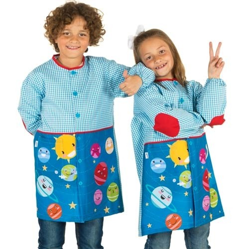 Bata escolar azul personalizada