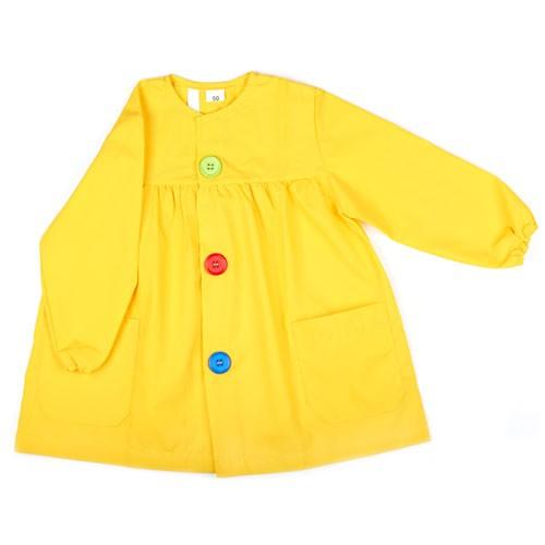 Bata para colegio amarilla