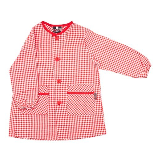 Bata personalizada para la escuela rojo