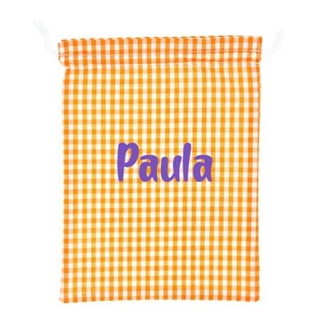 Bolsa de ropa personalizada naranja