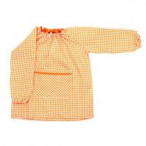 Bata bordada para el colegio naranja