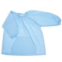 Bata de algodón azul