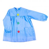 Bata de bebé azul celeste