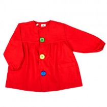 Bata de bebé roja