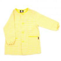 Bata de colegio personalizada amarilla