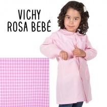 Bata de escuela vichy rosa bebé