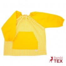 Bata de guardería personalizada amarilla
