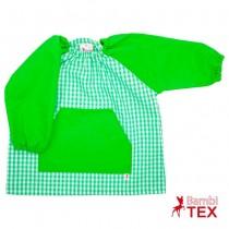 Bata de guardería personalizada verde