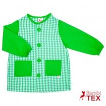 Bata escolar botones verde