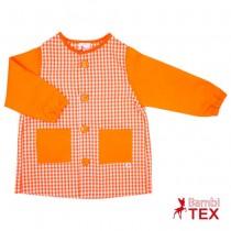 Bata para guardería con botones naranja